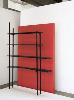 Joe Colombo; Unique Enameled Metal Shelves for Enrico and Gogina Baj, 1955.