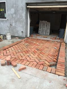 Herringbone Brick Driveway | Landscaping & Garden Design Projects DIY Project Idea | Project Difficulty: Medium | Maritime Vintage.com