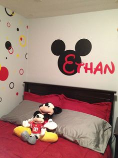 Personalized Name Mickey Mouse Silhouette Vinyl by ImprintedLiving, $30.00