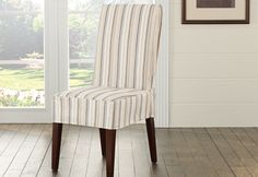 Sure Fit Slipcovers Harbor Stripe Short Dining Chair Cover - Shorty