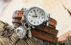 Leder Armbanduhr Wickeluhr von Bling-Bling Boutique auf DaWanda.com