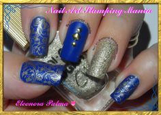 "Nail Art Stamping Mania: Kiko Denim 465 ""British Jeans"" and W Plate"