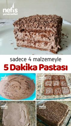 4 Malzemeli 5 Dakika Pastası – Nefis Yemek Tarifleri How to Make a 5 Minute Cake Recipe with 4 Ingredients? Here is a picture description of this recipe in the book of people and photos of the experimenters. Yummy Recipes, Cake Recipes, Dessert Recipes, Yummy Food, Beef Recipes, Drink Recipes, Chocolate Milka, Chocolate Desserts, Dessert Simple