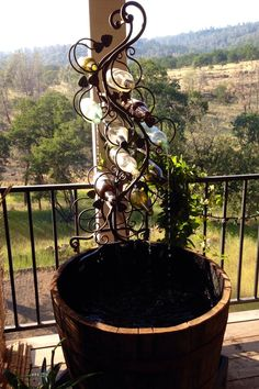 DIY Wine Bottle Outdoor Fountain | Hometalk