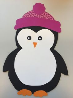 Arts and crafts Penguin paper craft template. Winter Crafts For Toddlers, Animal Crafts For Kids, Toddler Crafts, Kids Crafts, Wood Crafts, Daycare Crafts, Classroom Crafts, Winter Fun, Winter Theme