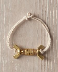 Brass-Nut Bracelet | Step-by-Step | DIY Craft How To's and Instructions| Martha Stewart
