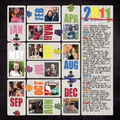 year in review... <3 this idea for the beginning of my annual albums!