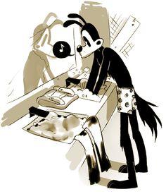 "hazardgirl-art-blog: ""he is one very capable canine. "" :DDDD"