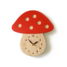 Wooden Mushroom Clock