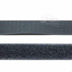 Velcro para coser de color gris oscuro