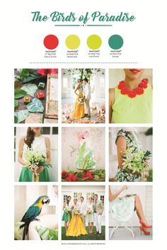 3 Tropical Wedding Palettes Inspired From Pantone's Spring 2018 Fashion Color Report - Bridestory Business Blog