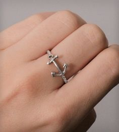Nautical Anchor Ring by Nautical Wheeler Jewelry on Scoutmob Shoppe. Cute Jewelry, Jewelry Box, Jewelry Rings, Jewelry Accessories, Fashion Accessories, Jewlery, Nautical Jewelry, Silver Jewelry, Silver Rings