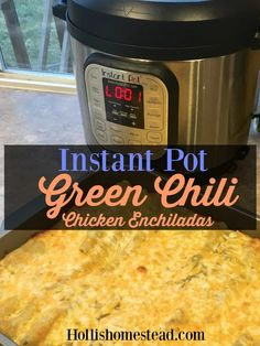 Make the best enchilada filling in your instant pot. The chicken is moist and shreds so easily. Green Chili Enchiladas, Green Chicken Enchiladas, Best Enchiladas, Green Chili Chicken, Green Enchilada Sauce, Instant Pot, Pots, Thing 1, Pressure Cooker Recipes