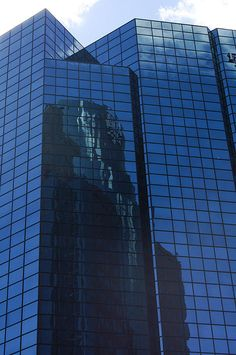Sky reflecting on a building