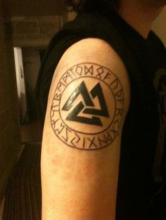 Gallery for triple horn of odin tattoo drawing and for Valknut symbol tattoo