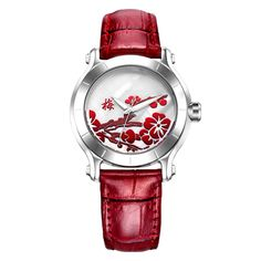 SINOBI New Chinese Women Watches For Plum Flower Female Red Leather Fashion Wristwatches Ladies Clock Relojes Mujer Mother's Day Trendy Fashion, Womens Fashion, Ladies Fashion, Style Fashion, Modern Watches, Leather Fashion, Red Leather, Minimalist Fashion, Watch Bands