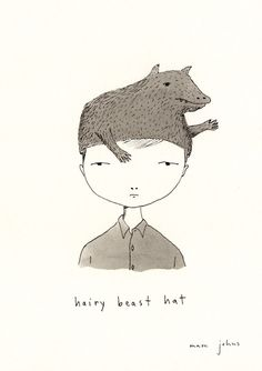 hairy beast hat // marc johns