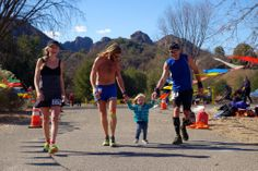 Family Finish at Sean O'Brien 50M. Photo by irunfar.com.