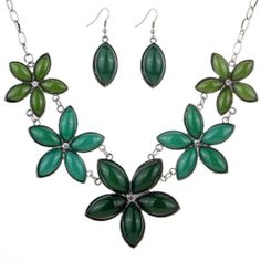 Yazilind Grace Tibetan Silver Green Flower Stone Chunky Bib Earrings Necklace Jewerly Set Gift Wedding Party, http://www.amazon.co.uk/dp/B00JFSFYK4/ref=cm_sw_r_pi_awdl_0MsPtb0KHW3EM