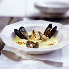 Saffron Mussel Soup recipe