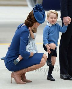 Duquesa de Cambridge, la princesa Charlotte y el príncipe George