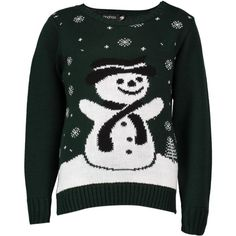 Boohoo Freya Kids Snowman Christmas Jumper ($12) ❤ liked on Polyvore featuring tops, sweaters, bottle green, sequin top, green top, turtle neck sweater, christmas jumpers and nordic sweater