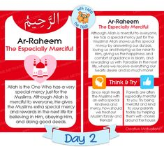 99 names kids -ar-raheem- dual image Ramadan Activities, Activities For Kids, Beautiful Names Of Allah, Allah Names, Ramadan Gifts, Islam For Kids, Islamic Inspirational Quotes, Islamic Quotes, Learn Islam