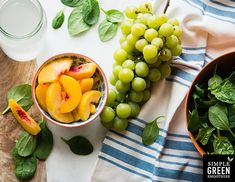 Peach Coconut Green Dream Smoothie—fruity, naturally sweetened, and delicious!