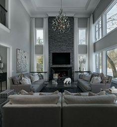 55 elegant living room decor colour schemes 42 - Home Accents living room Elegant Living Room, Living Room Grey, Formal Living Rooms, Home Living Room, Luxury Living Rooms, Beautiful Living Rooms, Large Living Rooms, Small Living, Cozy Grey Living Room