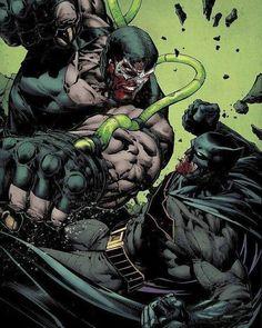 Batman vs Bane by David Finch Batman Vs, Batman The Dark Knight, Superman, Batman Fight, Batman Cartoon, Arte Dc Comics, Marvel Comics, Batgirl, Catwoman