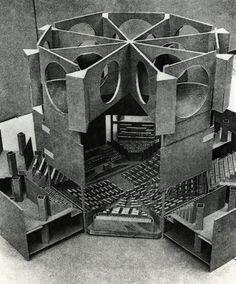"n-architecture: "" A cut-away model of Louis Kahn's parliamentary building in Dhaka, Bangladesh. Louis Kahn, Contemporary Architecture, Interior Architecture, Classical Architecture, Landscape Architecture, Interior Design, Kahn Design, Philip Johnson, Arch Model"