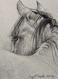 #ACEO TW Jan Drawing Card Chinese New Year 2014 Year of the Horse by #SueFlask