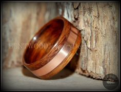 Bentwood Ring using Rosewood with Copper Inlay for a Very Durable Wood Ring.