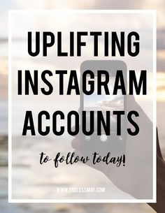 Sometimes social media just seems to be filled with negativity and unrealistic expectations. Something that I have found to really help me improve my social media experience is filling my feed with positivity, uplifting content and posts that inspire me. Click through to read about Endless May's favorite uplifting Instagram accounts!