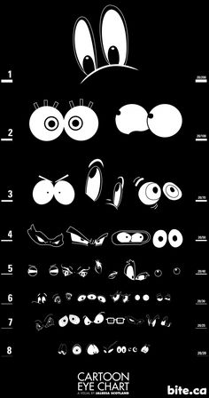 Framed Print - Cartoon Eye's Eye Chart (Picture Poster Art Optician Glasses Test Funny Cartoon Pictures, Cartoon Photo, Different Drawing Styles, Cartoon Eyes, Eye Chart, Old Comics, Drawing For Kids, Cool Eyes, My Sunshine