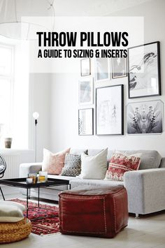 Throw Pillows: A Guide to Sizing & Inserts