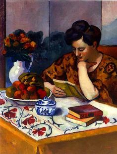 ✉ Biblio Beauties ✉ paintings of women reading letters & books - Henri Manguin
