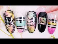 2018 New Nail Art, the Best Top Nail Designs&Ideas! Pop Art Nails, New Nail Art, 3d Nails, Nails Design With Rhinestones, Nail Art Videos, Paws And Claws, Autumn Nails, Top Nail, Nail Stickers