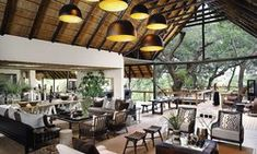 Camps at Londolozi - Luxury Lodges Tree Camping, Game Reserve, Interior Walls, Interior Architecture, Pergola, Outdoor Structures, Patio, Flooring, Places