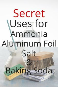 Baking soda 5066618310445463 - Don't overspend on cleaning supplies. All you need is ammonia, foil, salt, and baking soda to get your home sparkling clean. Source by bargainbabe Baking Soda Beauty Uses, Baking Soda Uses, Cleaning Hacks, Cleaning Supplies, Cleaning Products, Cleaning Routines, Cleaning Recipes, Baking Soda Drain Cleaner, Baking Powder Uses