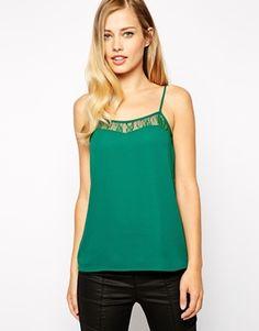 Not a dress but very pretty - Oasis Lace Trim Cami Oasis, Lace Trim, Basic Tank Top, Tank Tops, Pretty, Clothes, Dresses, Women, Fashion