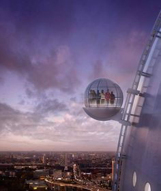 SkyView is a glass gondola that takes visitors 130 meters up to the top of the Ericsson Globe