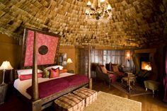 """The Ngorongoro Crater Lodge in Tanzania acts as steward of the Ngorongoro Conservation Area, a wildlife reserve home to scores of rare and endangered animals. It ranks #1 on TripAdvisor as """"best stay in Tanzania""""."""