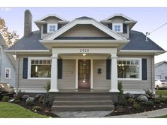 pitch-perfect bungalow exterior.  portland, OR