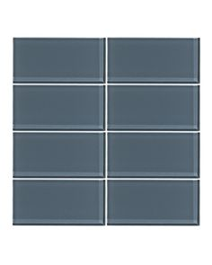 Our Steel Blue 3x6 glass subway tile is crafted from the highest quality glass using 100%recycled materials. Each tile is hand inspected at the factory and in-