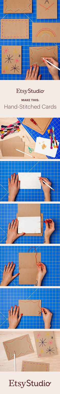 Hand-written notes are extra charming on hand-stitched cards. Learn how to make your own.