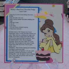 Beauty's Best Ever by tayransom – Cards and Paper Crafts at Splitcoaststampers disney recipe – Homemade Cards, Rubber Stamp Art, & Paper Crafts – Splitcoaststamper… Retro Recipes, Old Recipes, Cookbook Recipes, Vintage Recipes, Recipies, Jelly Recipes, Copycat Recipes, Disney Desserts, Disney Dishes