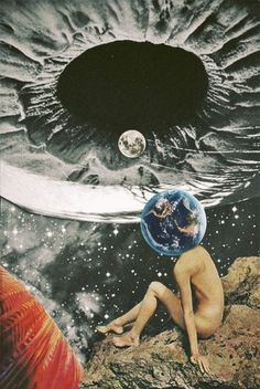 Mazaj-7. Surreal Mixed Media Collage Art By Ayham Jabr.