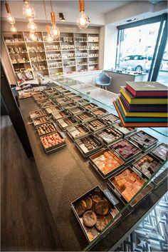 Chocolaterie Scarabée d'Or Enghien Décoration d'intérieur Alexandra Druesne