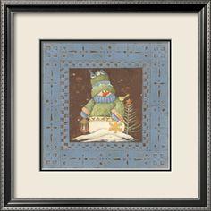 *Blue Tin Snowman*
